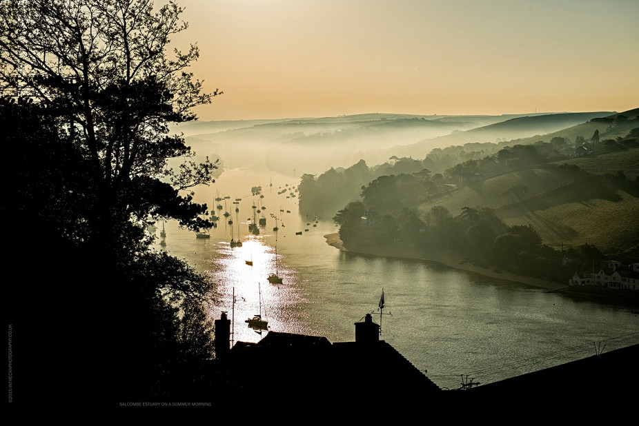 Early morning at Salcombe on the south west border of Devon and Cornwall