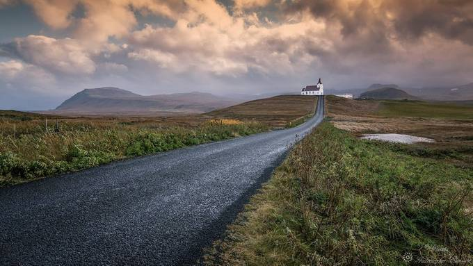 The road to the church by Geinis - Diagonal Compositions Photo Contest