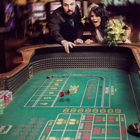 While shooting some wedding portraits at the Bellagio in Las Vegas we decided to get some action shots at a craps table!