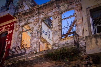 Juxtaposition of Restored & Abandoned.