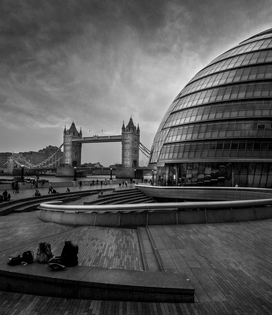 London City Hall Tower Bridge by larryplatner - City Life In Black And White Photo Contest