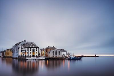 Typical sunset in Ålesund
