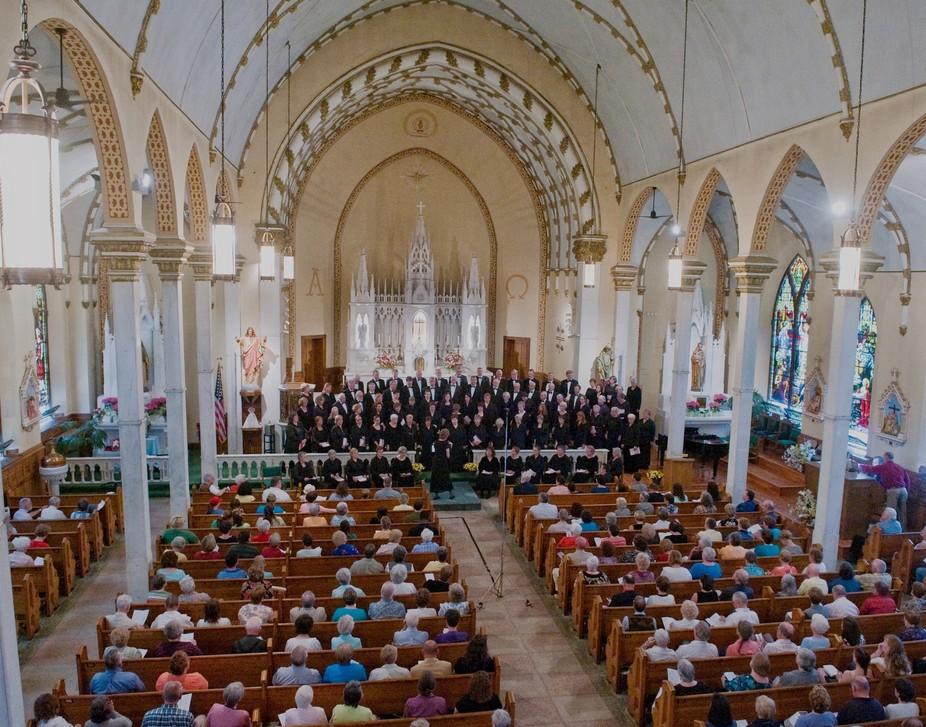 Oneida Area Civic Chorale Performing A Concert  St Patricks Church Oneida NY