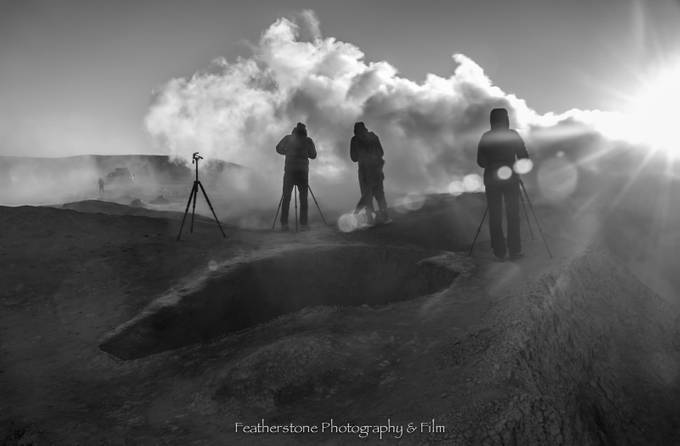 Photographers Shooting Thermal Activity by FeatherstonePhotography - Monochrome Creative Compositions Photo Contest
