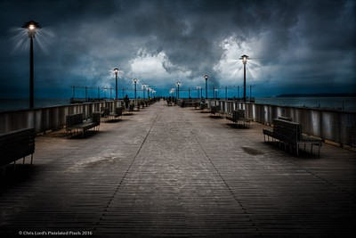 Dark Morning At The Fishing Pier