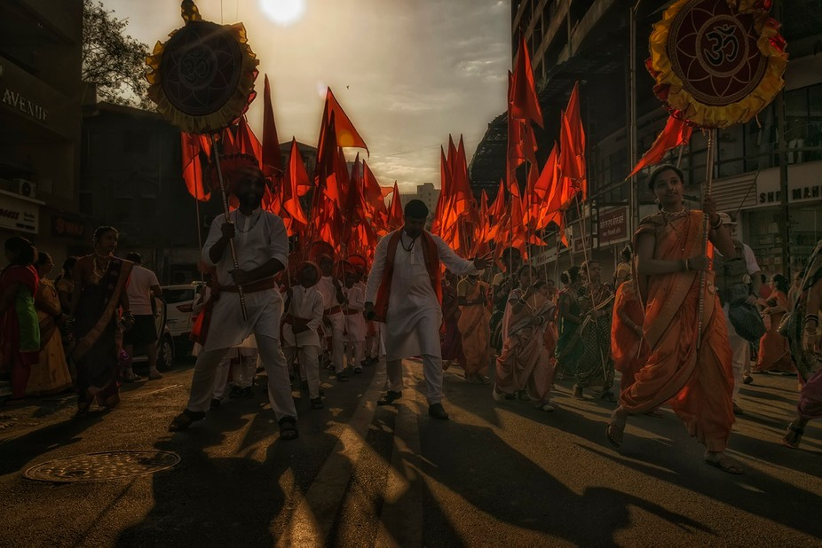 Gudi Padwa is a festival celebrated in Girgaon, Mumbai every year. Traditional dresses are worn b...