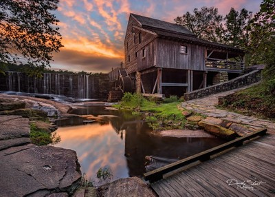 Sunset at Historic Yates Mill