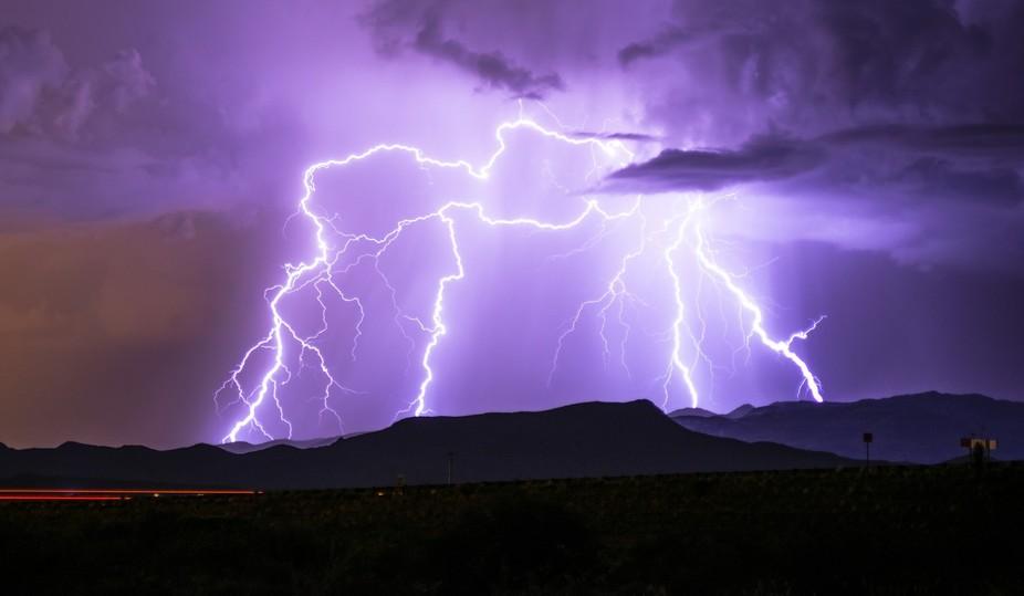 Chasing the monsoon thru the desert outside Tucson.