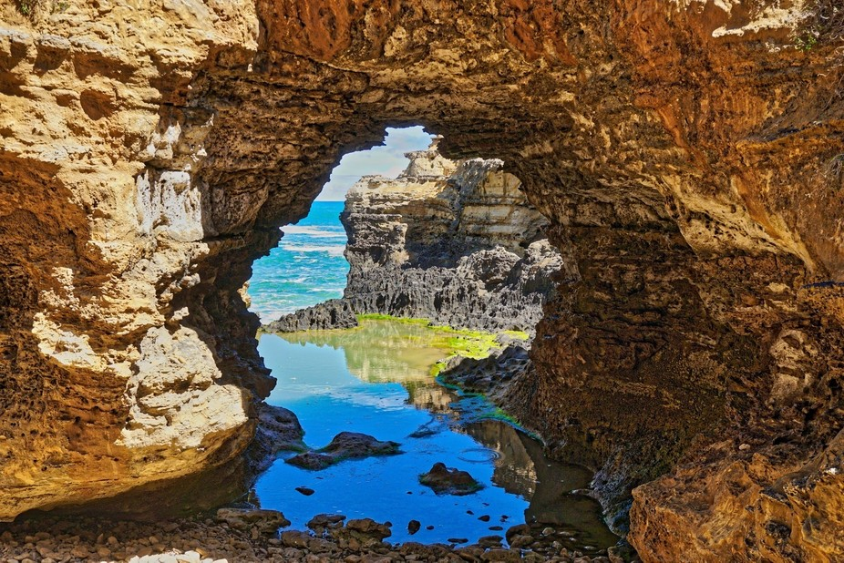 Grotto on The Great Ocean Road Vic, Australia.