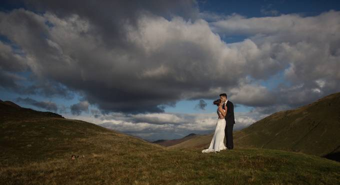 Mountain Kiss by FreedomPhotos - Here Comes The Bride Photo Contest