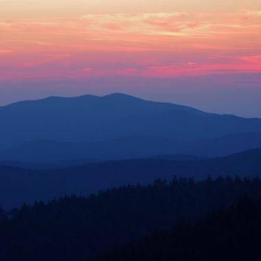 Sunset over the Smoky Mountains, Smoky Mountain National Park, North Carolina