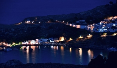 Colourful nights at Lindos