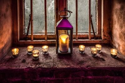 Candle lit window