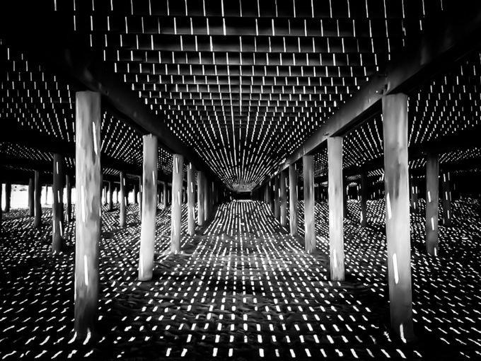 Under the pier by Srini_Photo_Art - Patterns In Black And White Photo Contest
