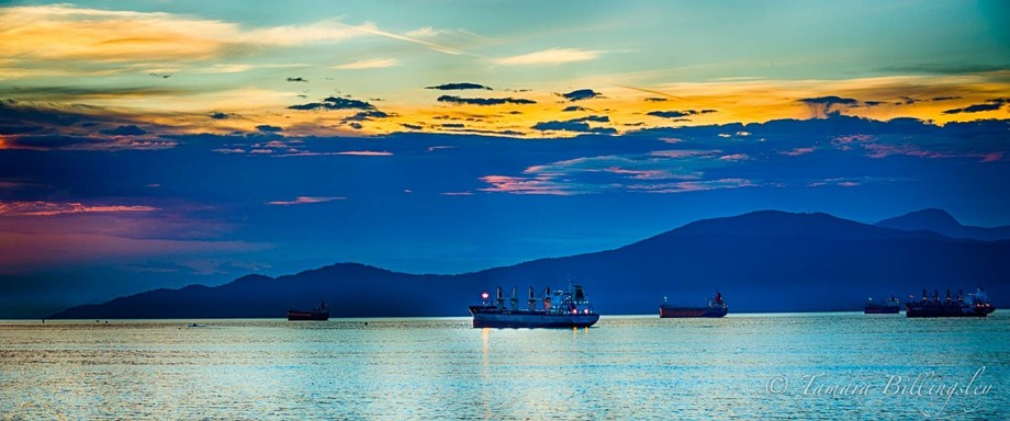 This was taken looking into Burrard Inlet at Sunset.