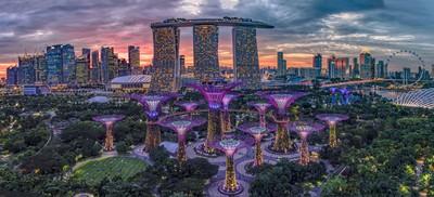 panoramic view of Marina Bay Singapore