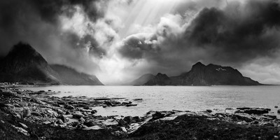 Gloomy day on Lofoten Islands