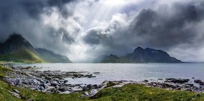 Gloomy day on Lofoten Islands