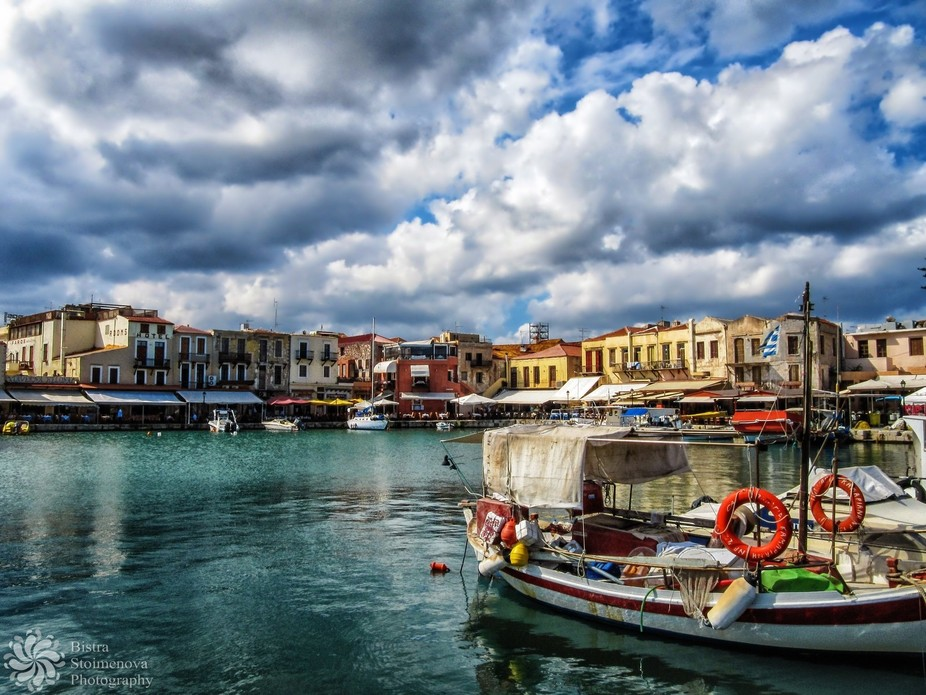 The Venеtian Harbour of Rethymno.  The story of the shot: Photographers are strange creatures. Y...