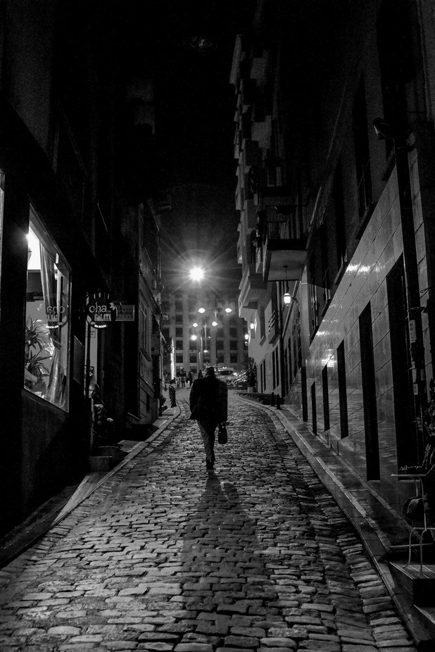 Night passerby by KonstantinSokolov - City Life In Black And White Photo Contest