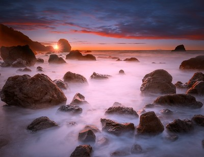 Beach sunset at San Francisco
