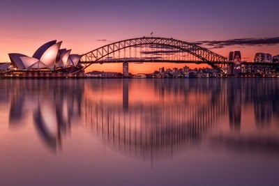 Sydney and sunset
