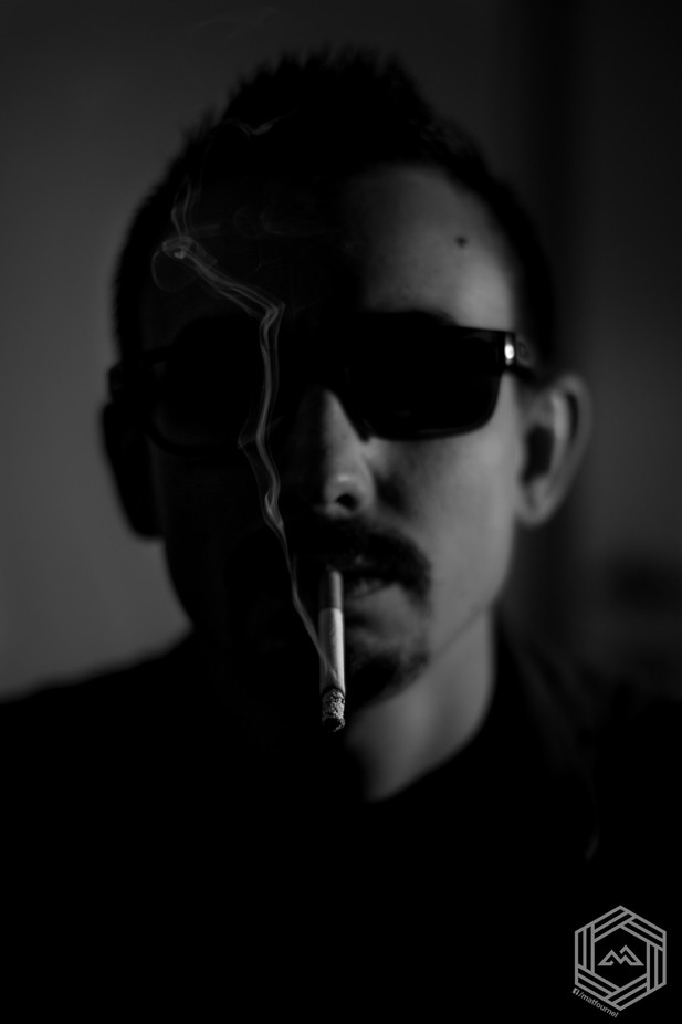 Portrait of a cigarette by FlatMat - People In Black And White Photo Contest