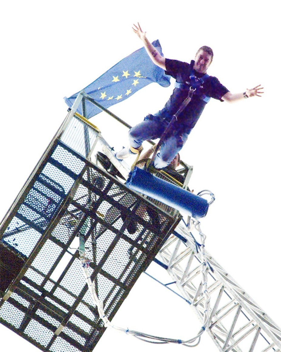 Charity Bungee jump at local Pub