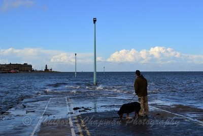 High Tide at Knott End Jetty