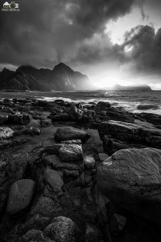 Flakstad Sunset by fotoroom - Our World In Black And White Photo Contest