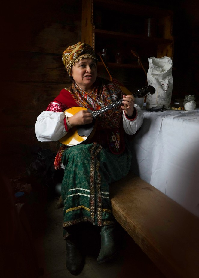 Domra player. Fort Ross. Крепость Росс by SlavaSh - Cultures of the World Photo Contest