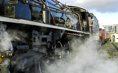 Steaming past