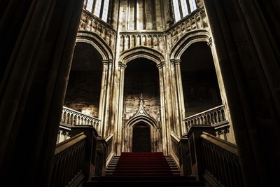 margam castle main stairs
