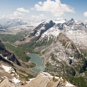 The Lake Sanetsch and the surrounding mountains such as the Sanetsch Pass on the left are a very wild and nice area on the boarder between the Ge...