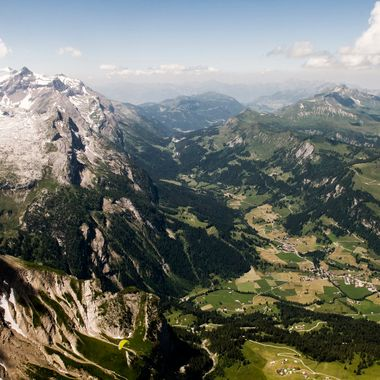 The Col du Pillon which is connecting the German- and French-talking parts of Switzerland is a very nice and wild area.  This Picture was taken during a Paragliding Flight while I was above the Spitzhorn-Mountain on about 2900 Meters above Sea Level.