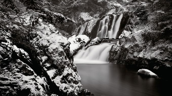 The First Snow-Falls by seanschuster - The Water In Black And White Photo Contest