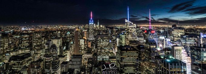 Manhattan from Top of the Rock. by juanpereira - City In The Night Photo Contest