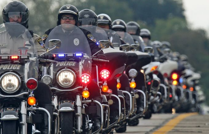 Police Honor Guard by jamesforbes - Motorcycles Photo Contest