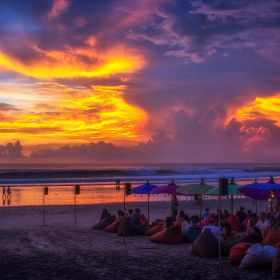 In Seminyak, Bali, it is a sin not to be at the beach to watch the sunset.
