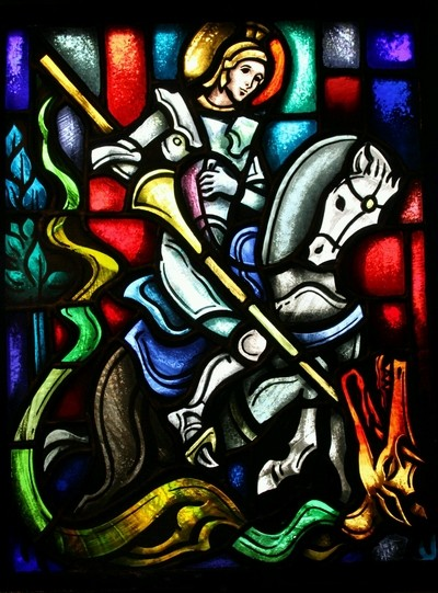 St. George stained glass