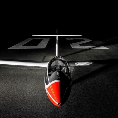 Glider at night time