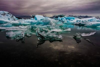 Glacier Lake under the Midnight Sun