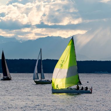 While traveling through Seattle, I lucked across a sailing regatta and captured hundreds of sail boats in the process. I did not find this image until a few days later while reviewing my captures.