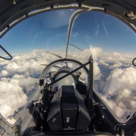 Took this photo from the back seat of a Harvard II (same as Texan II) aircraft while flying at 22'000 ft. Check out more on my blog at www.f...