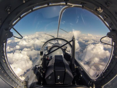 Office View at 22'000 ft