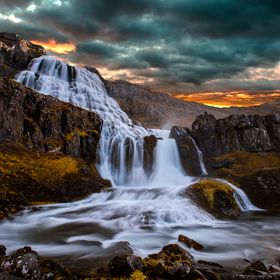 This is a 2 shot composition of the Dynjandi waterfall in Iceland. I used the big stopper for the foreground, but didnt like the long exposure ef...