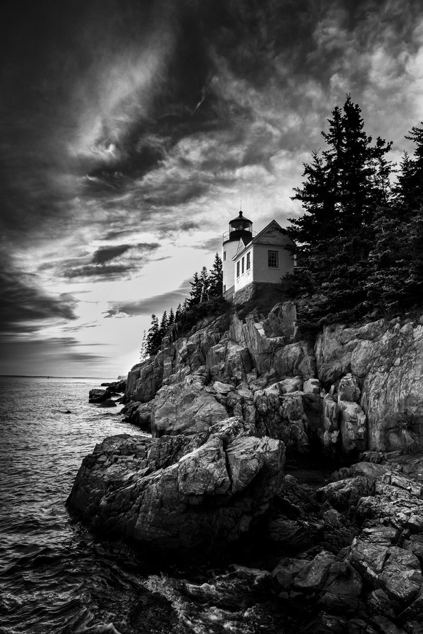 Bass Harbor Head Light by wild_man_photo - Landscapes In Black And White Photo Contest
