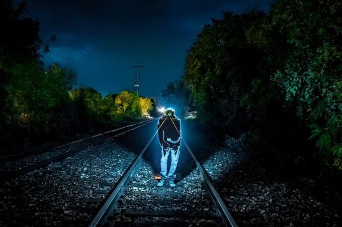 Ghost on the Track? by OwlEyeImages_ShaneMac - Getting Creative Photo Contest