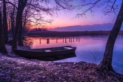 Sunset on the White Lake