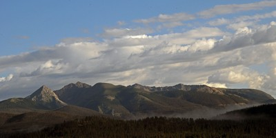 The Continental Divide from our upper deck
